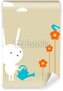 Vinyl Fotobehang Bunny tuin