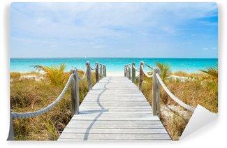 Vinyl Fotobehang Caribische strand