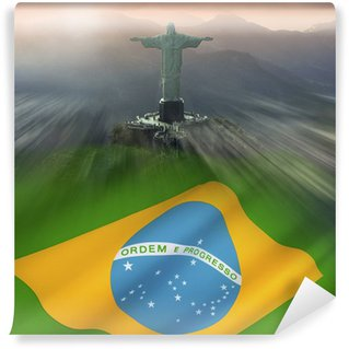Vinyl Fotobehang Christus de Verlosser, Rio de Janeiro, Brazilië