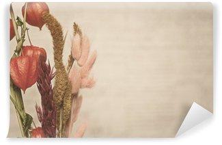 Vinyl Fotobehang Close-up beeld van Physalis plant. Vintage-stijl