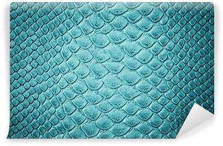Vinyl Fotobehang Crocodile turquoise huidtextuur