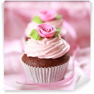 Vinyl Fotobehang Cupcakes voor geliefden