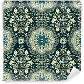 Vinyl Fotobehang Damast naadloze patroon