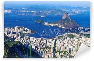 Vinyl Fotobehang De berg Sugar Loaf en Botafogo in Rio de Janeiro