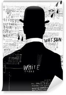 Vinyl Fotobehang De man met de hoed
