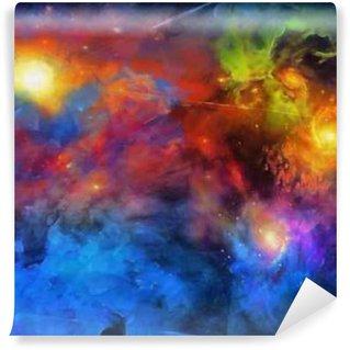 Vinyl Fotobehang Deep Space Painting