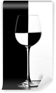 Vinyl Fotobehang Domino wijnglas