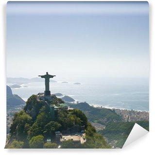 Vinyl Fotobehang Dramatische Luchtfoto van Rio De Janeiro