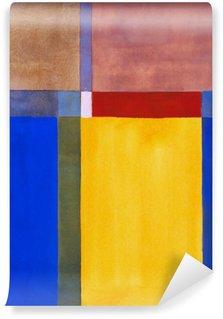 Vinyl Fotobehang Een minimalistische abstracte schilderkunst