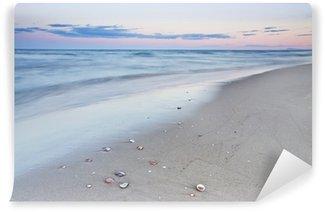 Vinyl Fotobehang Een wandeling op het strand