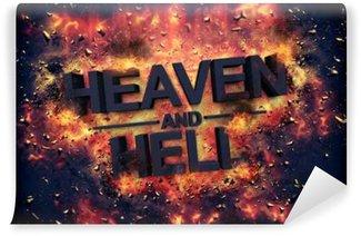 Vinyl Fotobehang Embers rondom het woord hemel en gezondheid