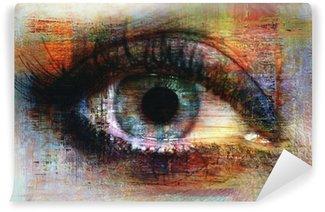 Vinyl Fotobehang Eye textuur