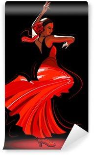 Vinyl Fotobehang Flamenco danseres