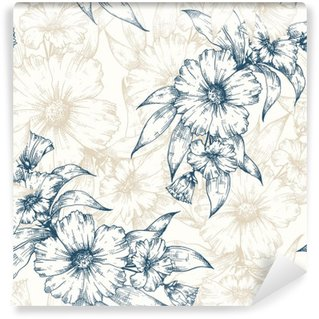 Vinyl Fotobehang Floral vector patroon