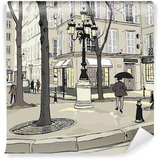 Vinyl Fotobehang Furstemberg plein in Parijs