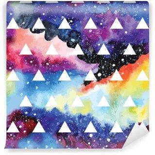 Vinyl Fotobehang Galaxy naadloos patroon.