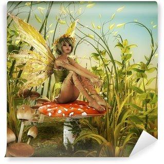 Vinyl Fotobehang Geniet van de laatste zonnestralen