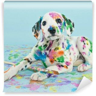 Vinyl Fotobehang Geschilderd Puppy