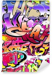 Vinyl Fotobehang Graffiti naadloze achtergrond. Hip-hop urban art