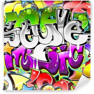 Vinyl Fotobehang Graffiti Urban Art Achtergrond. Naadloze design