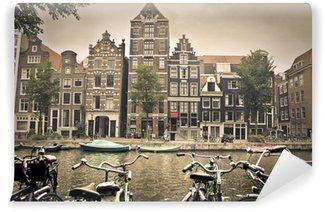 Vinyl Fotobehang Grijze dag in amsterdam