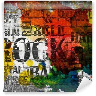Vinyl Fotobehang Grunge rock muziek poster