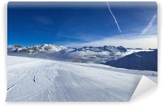 Vinyl Fotobehang Helling op het ski resort in Alpen. Livigno, Italië