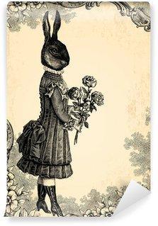 Vinyl Fotobehang Het kind konijn