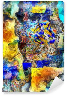 Vinyl Fotobehang Hoekige abstract.