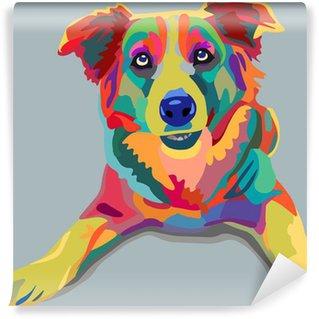 Vinyl Fotobehang Hond pop-art