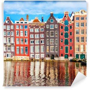 Vinyl Fotobehang Huizen in Amsterdam