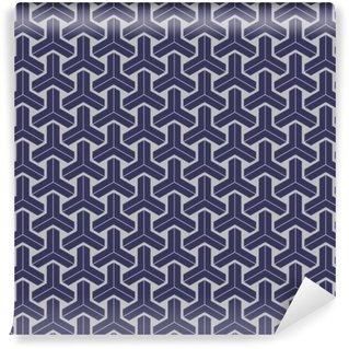 Vinyl Fotobehang Japanse geometrische naadloze patroon ontwerp textuur
