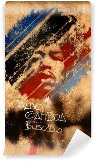 Vinyl Fotobehang Jimi Hendricks street art