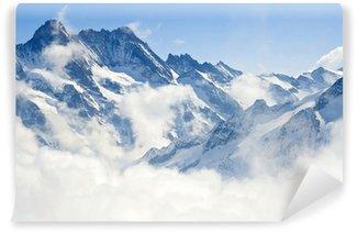 Vinyl Fotobehang Jungfraujoch Alpen berglandschap