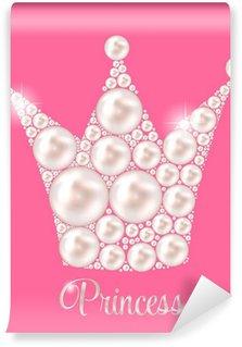 Vinyl Fotobehang Kroon van de prinses Pearl achtergrond vector illustratie.