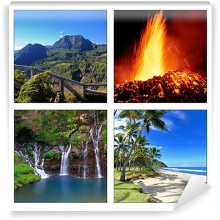 Vinyl Fotobehang Landschappen van La Reunion.
