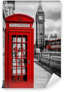 Vinyl Fotobehang Londen Phone Booth