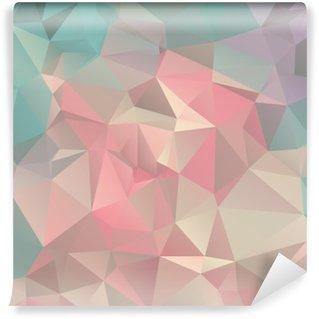Vinyl Fotobehang Low Poly driehoekige trendy achtergrond van de kunst