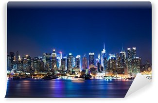 Vinyl Fotobehang Manhattan skyline van New York
