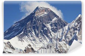 Vinyl Fotobehang Met sneeuw bedekte top van de Mount Everest