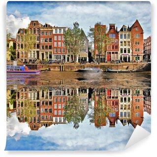 Vinyl Fotobehang Mooie Amsterdam, Holland