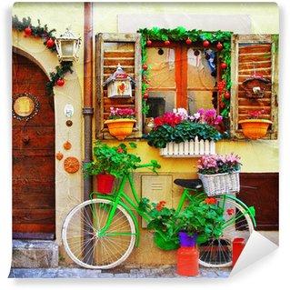 Vinyl Fotobehang Mooie straatjes van kleine Italiaanse dorpen