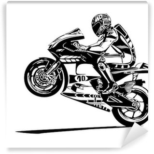 Vinyl Fotobehang Moto gp wheelie