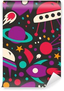 Vinyl Fotobehang Naadloos contrast kosmische patroon