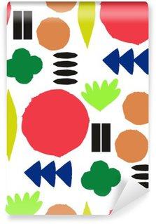 Vinyl Fotobehang Naadloos patroon met grafische geometrische elementen