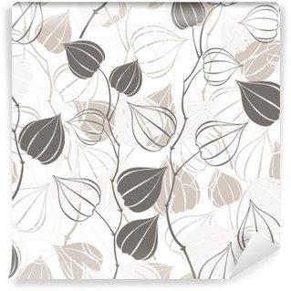 Vinyl Fotobehang Naadloos patroon met takken physalis. Abstract floral achtergrond.