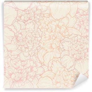 Vinyl Fotobehang Naadloos patroon van pioenen