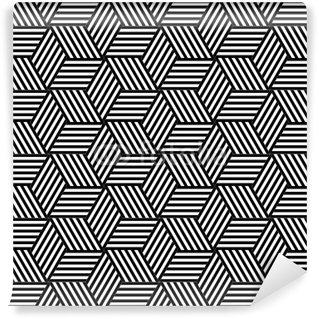 Vinyl Fotobehang Naadloze geometrische patroon in op-art design.