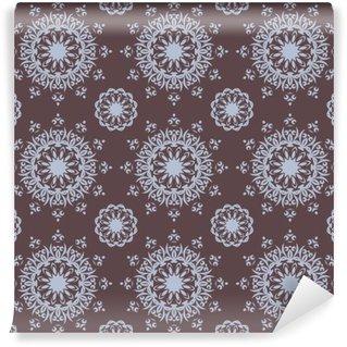 Vinyl Fotobehang Naadloze hand getekende mandala patroon voor het printen op stof of papier. Vintage decoratieve elementen in oosterse stijl. Islam, arabisch, indisch, turks, Ottomaanse motieven. Vector illustratie.