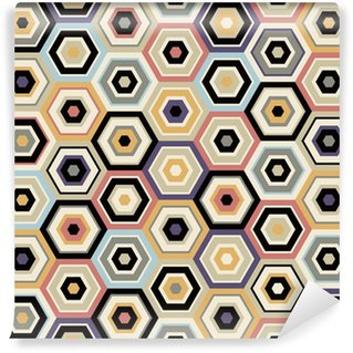 Vinyl Fotobehang Naadloze Hexagon patroon